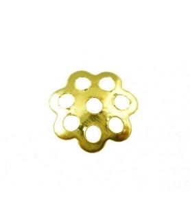 Comprar Pack 25 casquillas flor dorada 6mm de Conideade