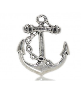 Charm ancla marinera plata