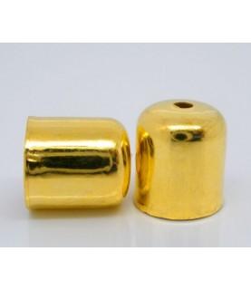 Imagén: Pack de 10 Terminales dorados para cordón  6mm