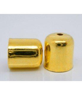 Comprar Pack de 10 Terminales dorados para cordón 6mm de Conideade