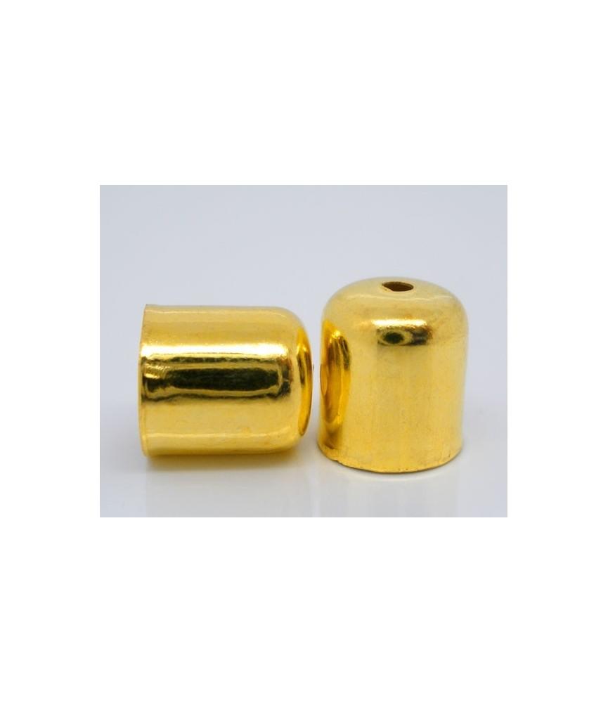 Pack de 10 Terminales dorados para cordón 6mm