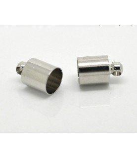 Comprar Pack 10 terminales para cordon 6mm plateado de Conideade