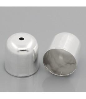 Pack 10 terminales para cordon de 12mm plateado