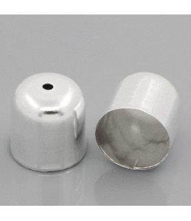 Comprar Pack 10 terminales para cordon de 12mm plateado de Conideade