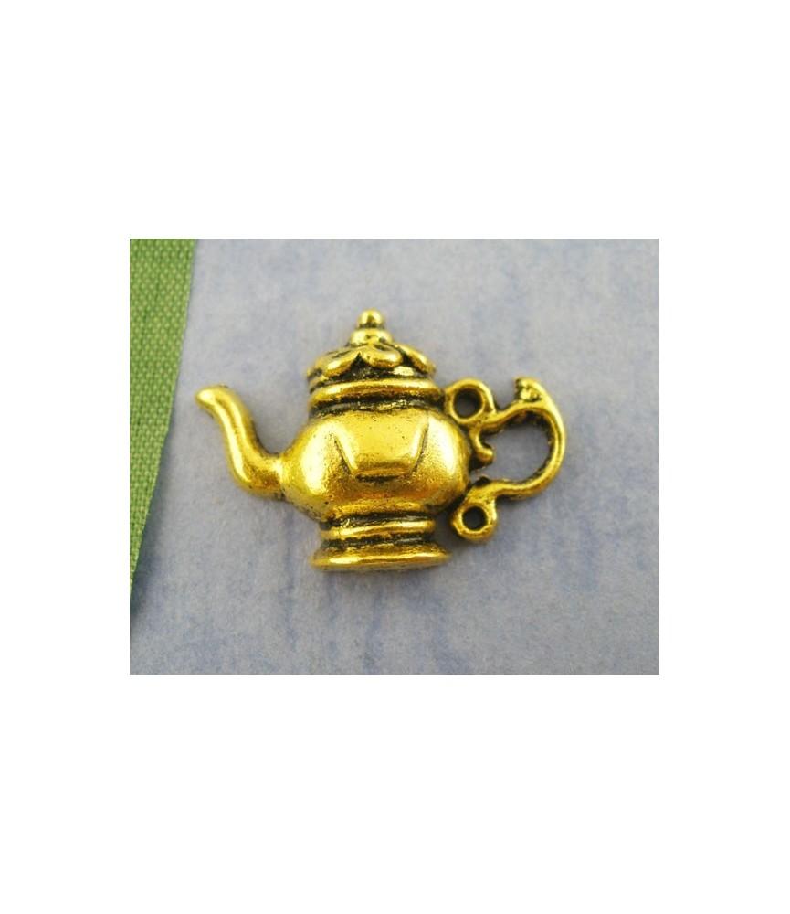 Charm tetera dorado