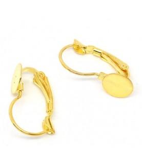 Comprar Par de pendientes dorados con base 21x13 mm de Conideade