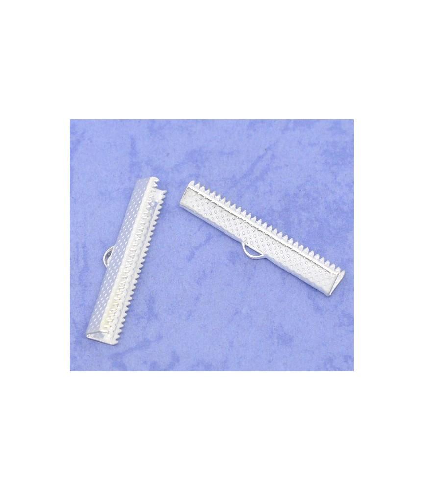Terminal dentado 35 x 7,5 mm plateado
