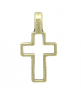 Comprar Charm cruz bronce de Conideade