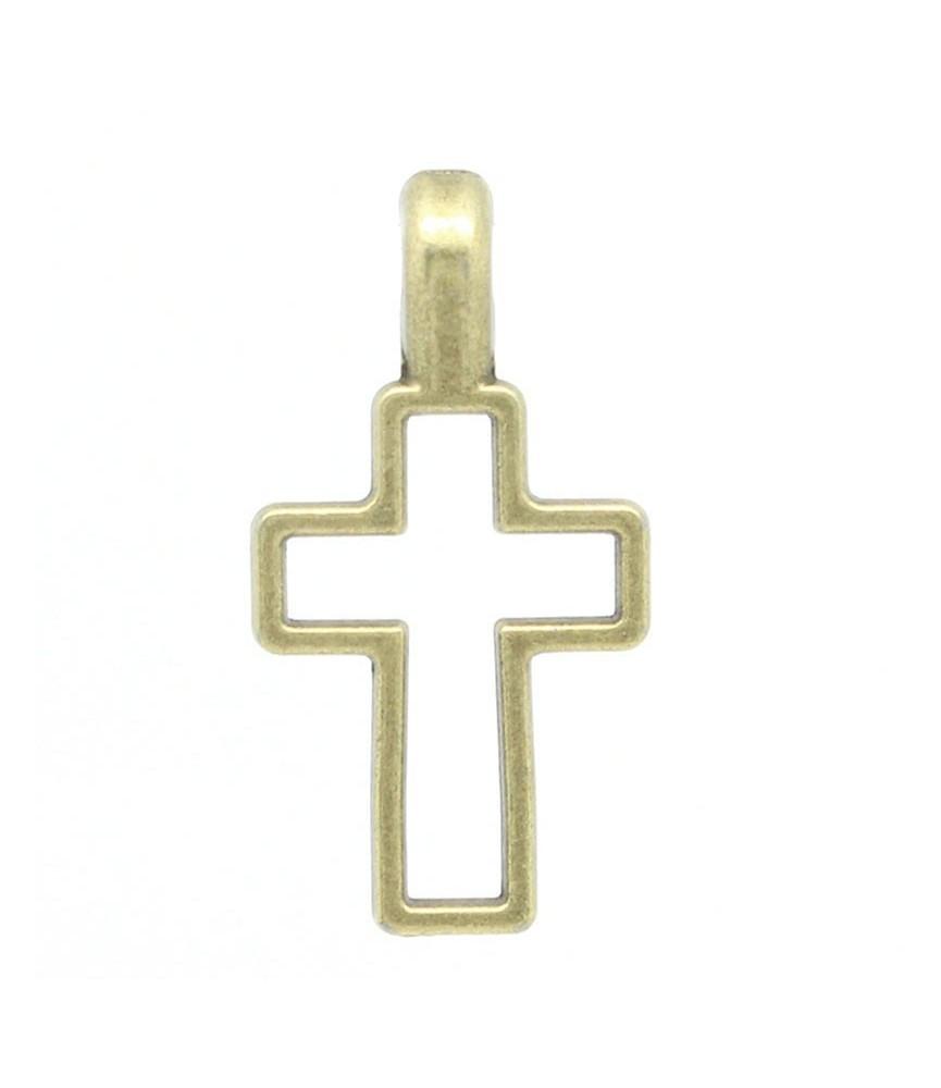 Charm cruz bronce