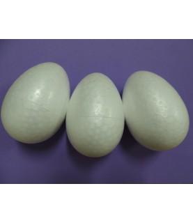 3 Huevos de porexpan de 7 cm