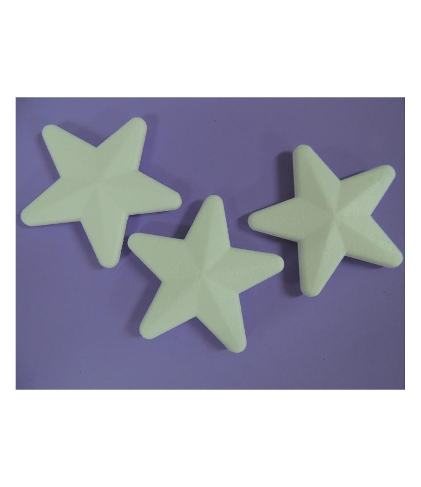 3 Estrellas de porexpan 13,5 cm