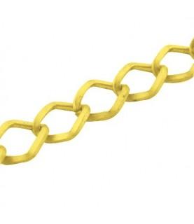 Cadena eslabon grande dorada