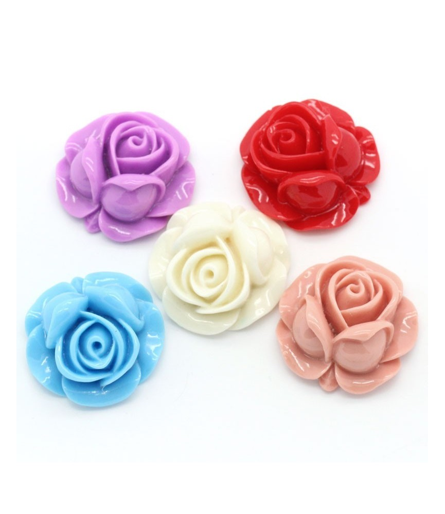 Pack de 5 flores de resina grandes