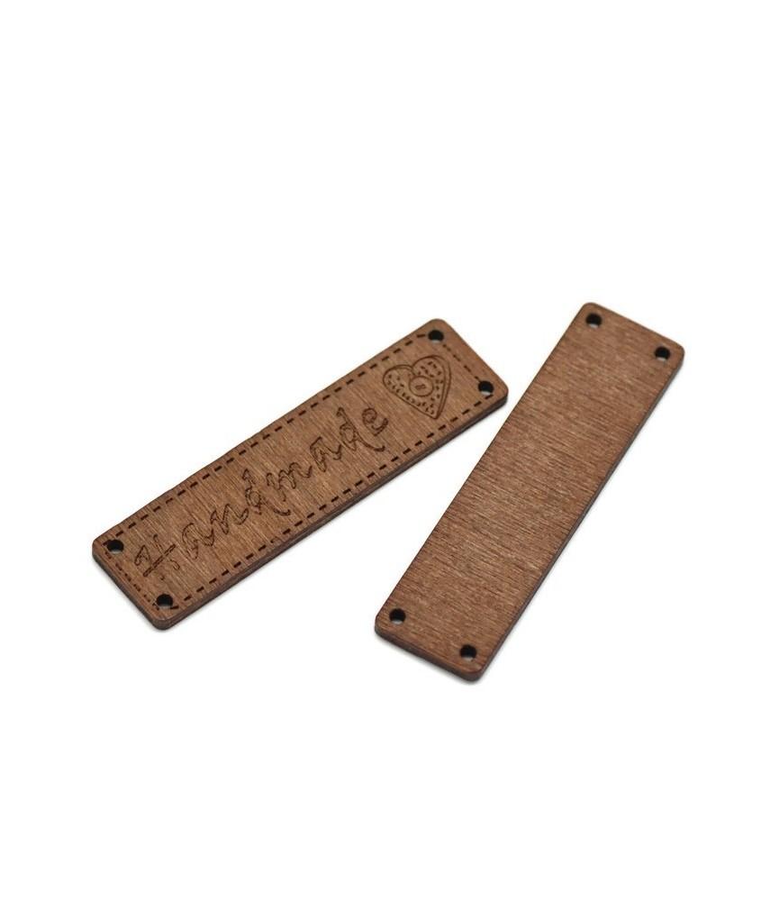 Etiqueta de Madera Handmade