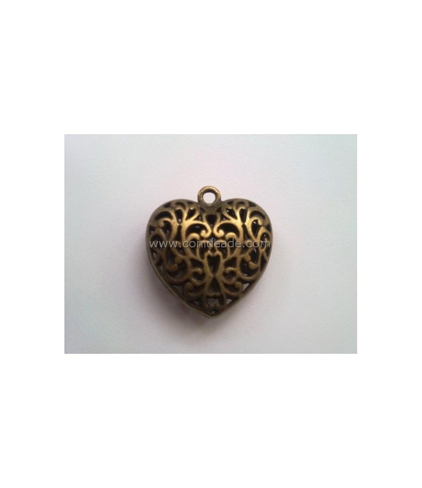 Colgante corazón de filigrana 36x35mm