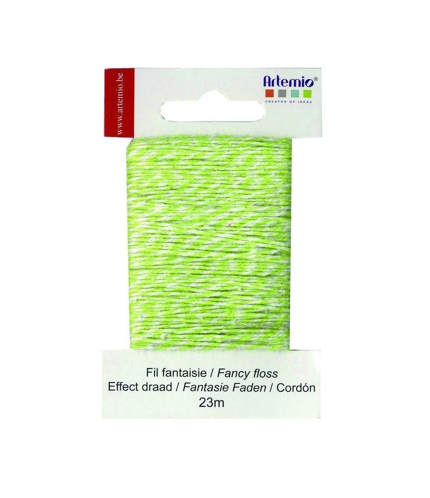 Cordón de fantasia verde lima 23m