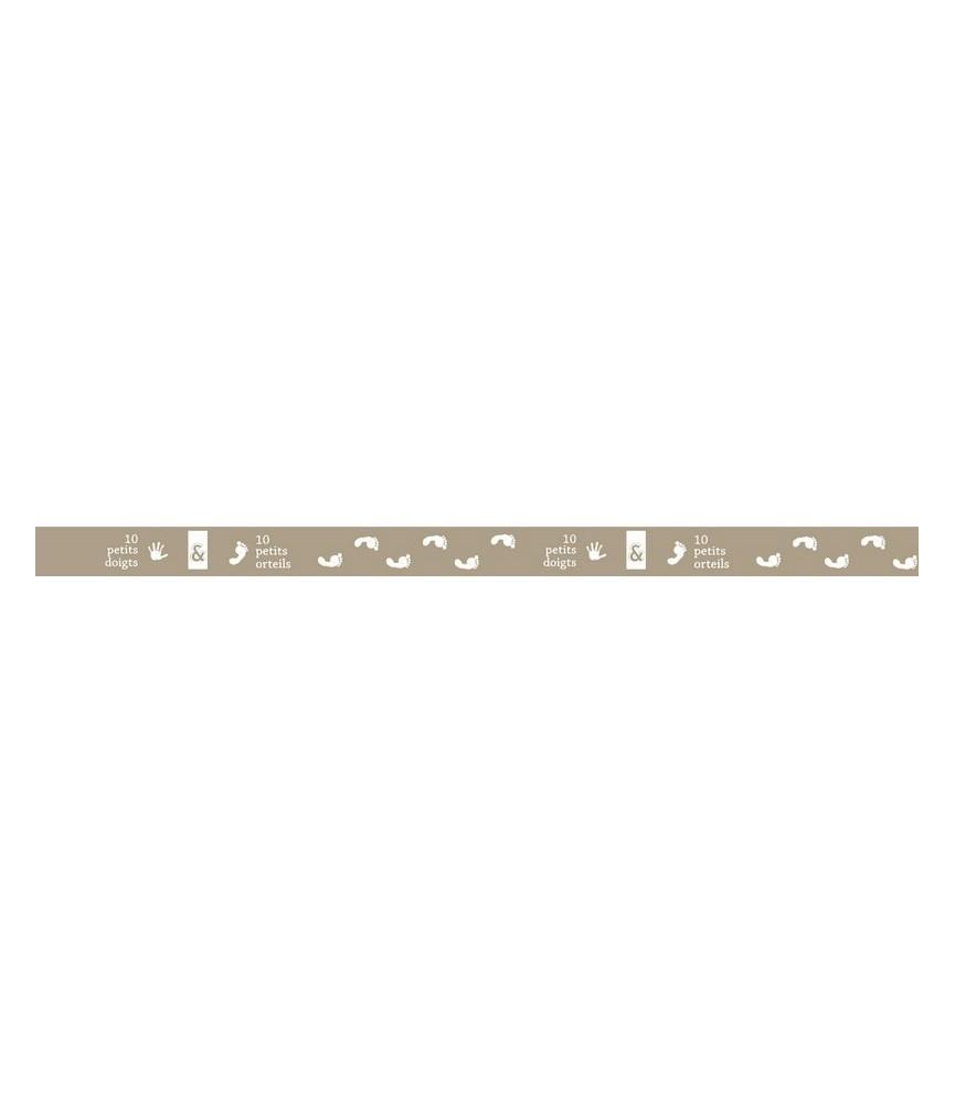 1 rollo de cinta adhesiva washi tape huellas
