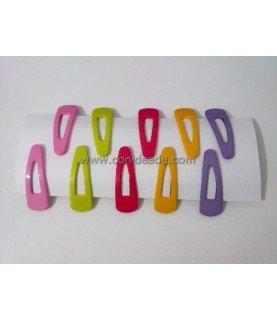 Pack de 10 horquillas de clip de colores