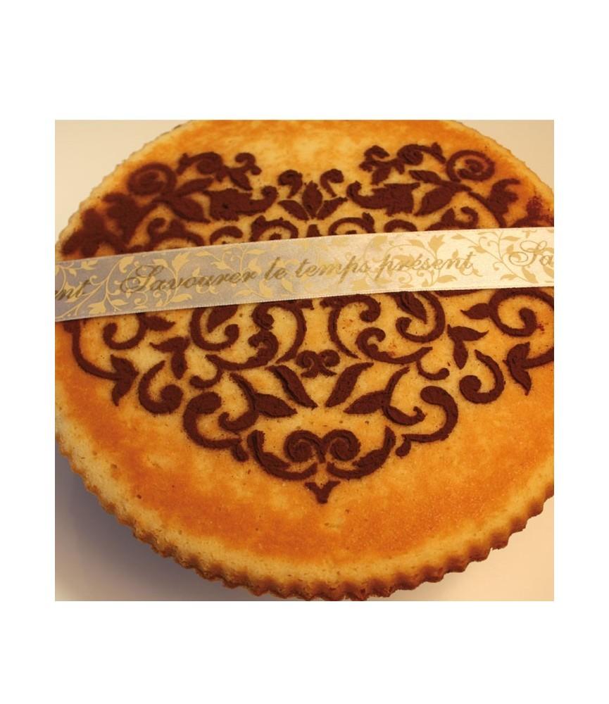 Plantilla para decorar tarta corazon barroco