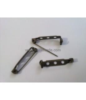 Comprar Pack 10 broches bronce 28 mm con cierre seguridad de Conideade
