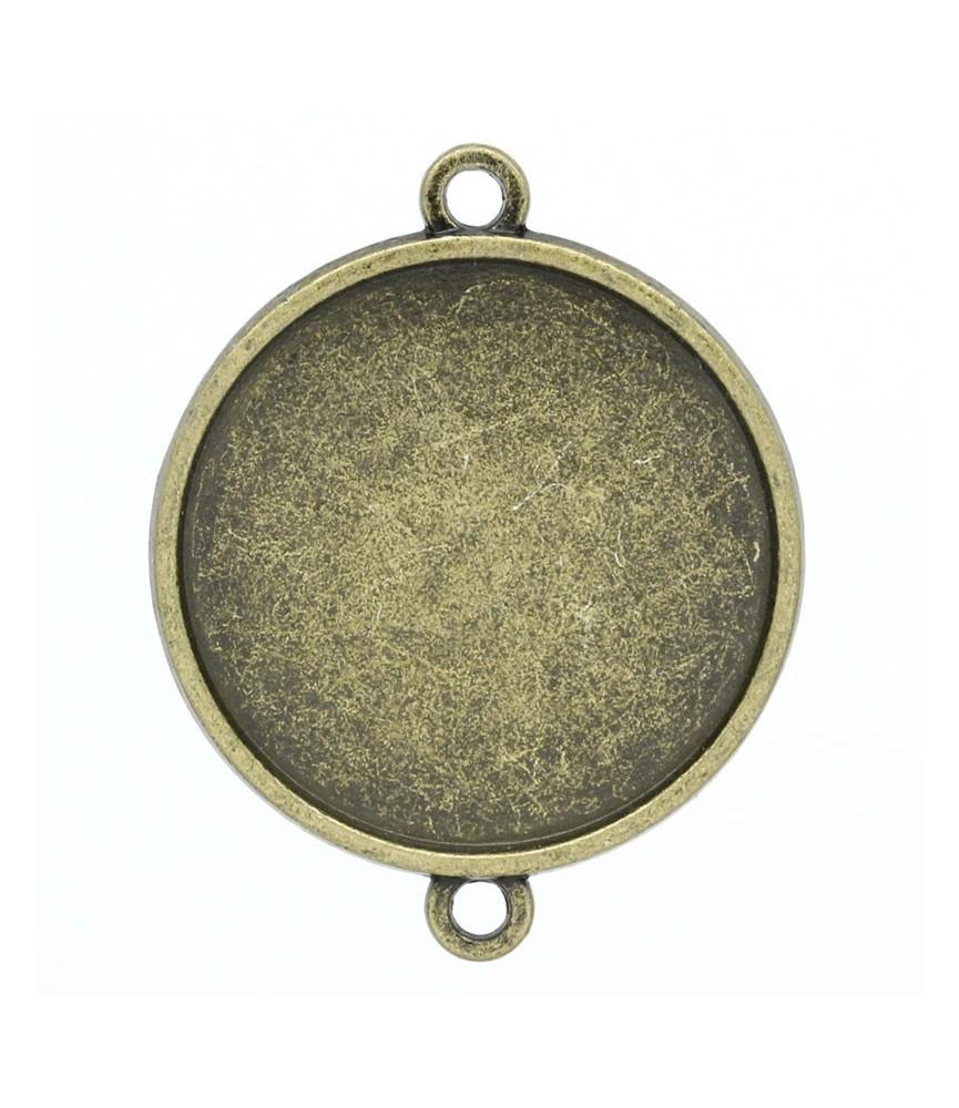 Conector base de camafeo 25mm bronce