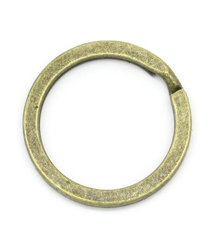 Anilla llavero plana de 25mm bronce