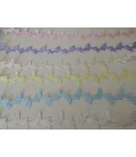 1 metro de cinta fantasía Mariposas