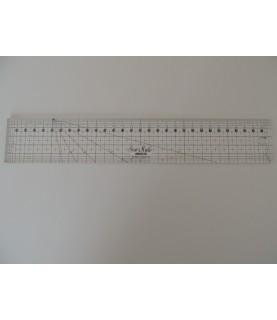 Regla patchwork 5x30 cm