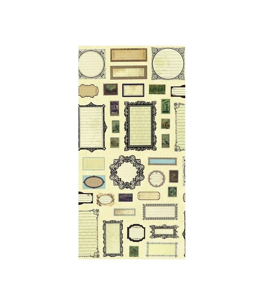 Fat Quarter Etiquetas 45x55 cm