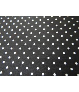 Comprar Tela popelin Topos negra 45x45 cm de Conideade
