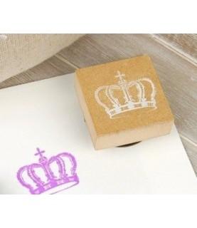 Sello de madera corona + tinta