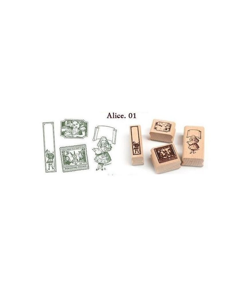 Lata 4 sellos madera Alicia