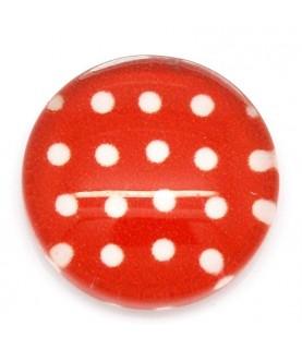 Comprar Cabuchon cristal topitos rojo 12mm de Conideade