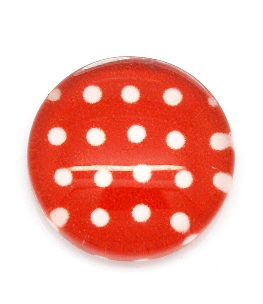 Cabuchon cristal topitos rojo 12mm