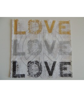 "Servilleta mod ""Love"" 33x33 cm"