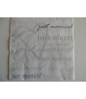 "Servilleta mod ""wedding time"" 33x33 cm"