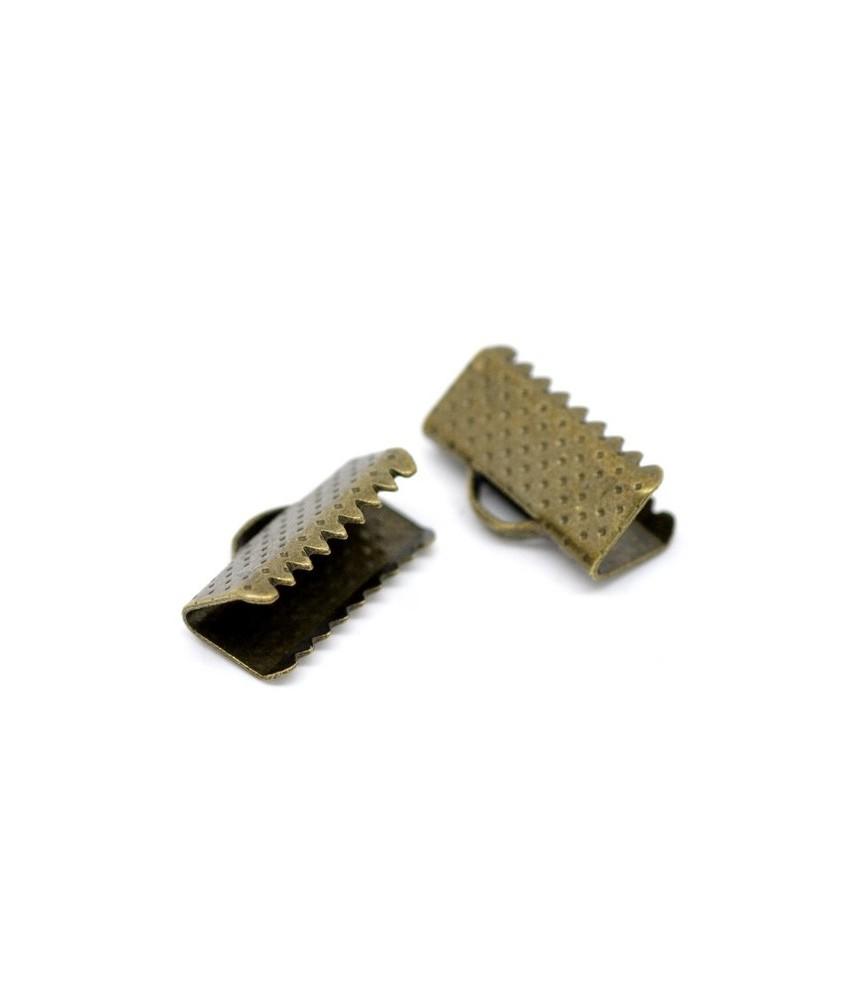 Terminal dentado 13mm bronce