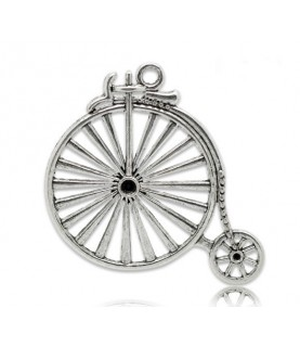 Colgante bicicleta antigua plata