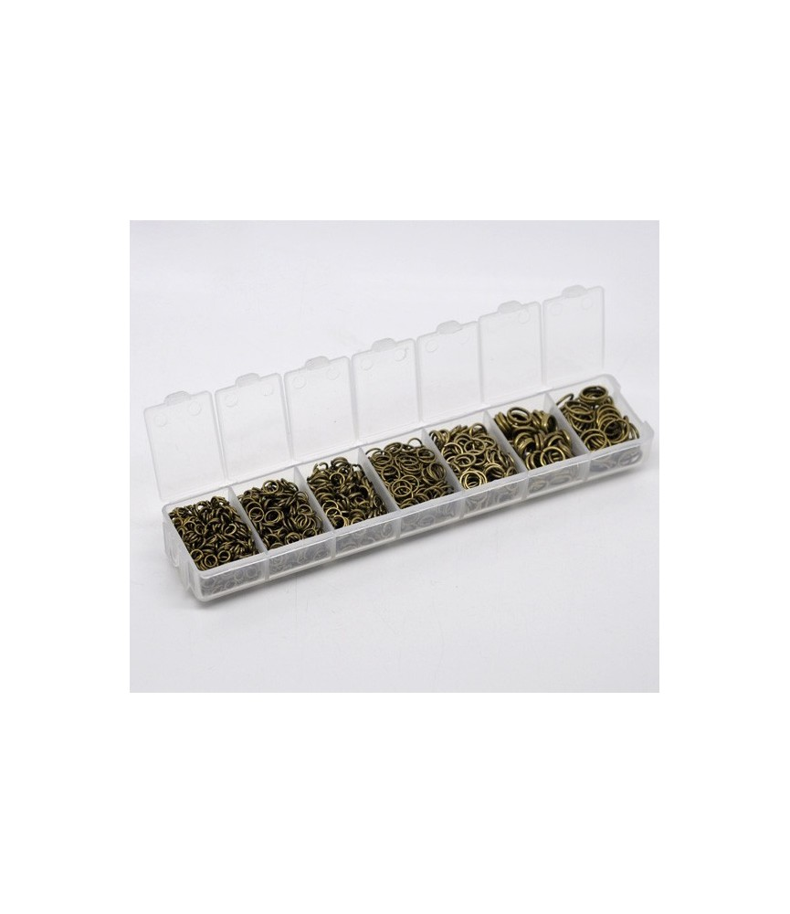 Caja de arandelas en bronce en 7 medidas