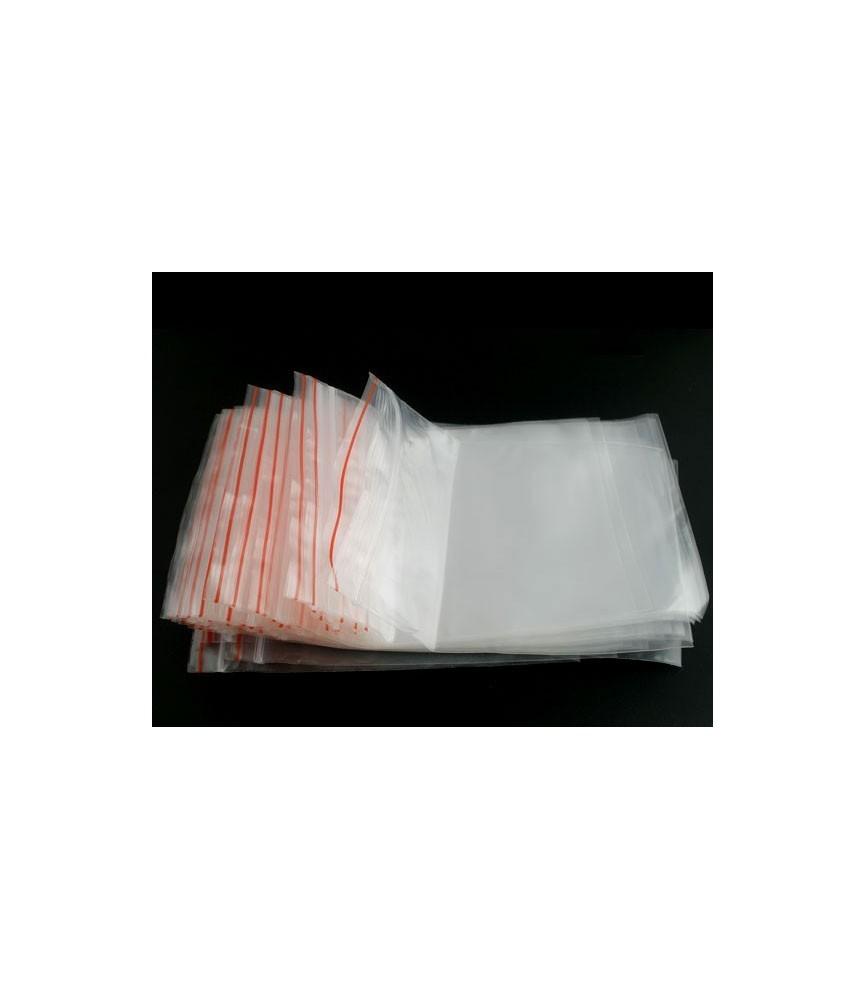 Pack de 100 bolsas de plástico de 10x13cm con cierre