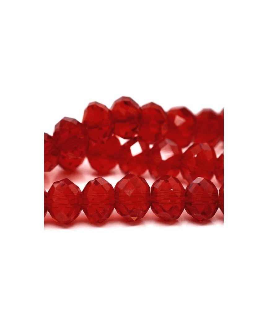 Pack de 10 cuentas de cristal faceteadas 8x6 mm