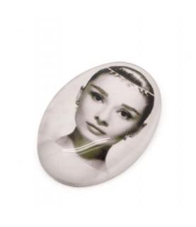 Imagén: Cabuchon cristal Audrey Hepburn 18x25mm
