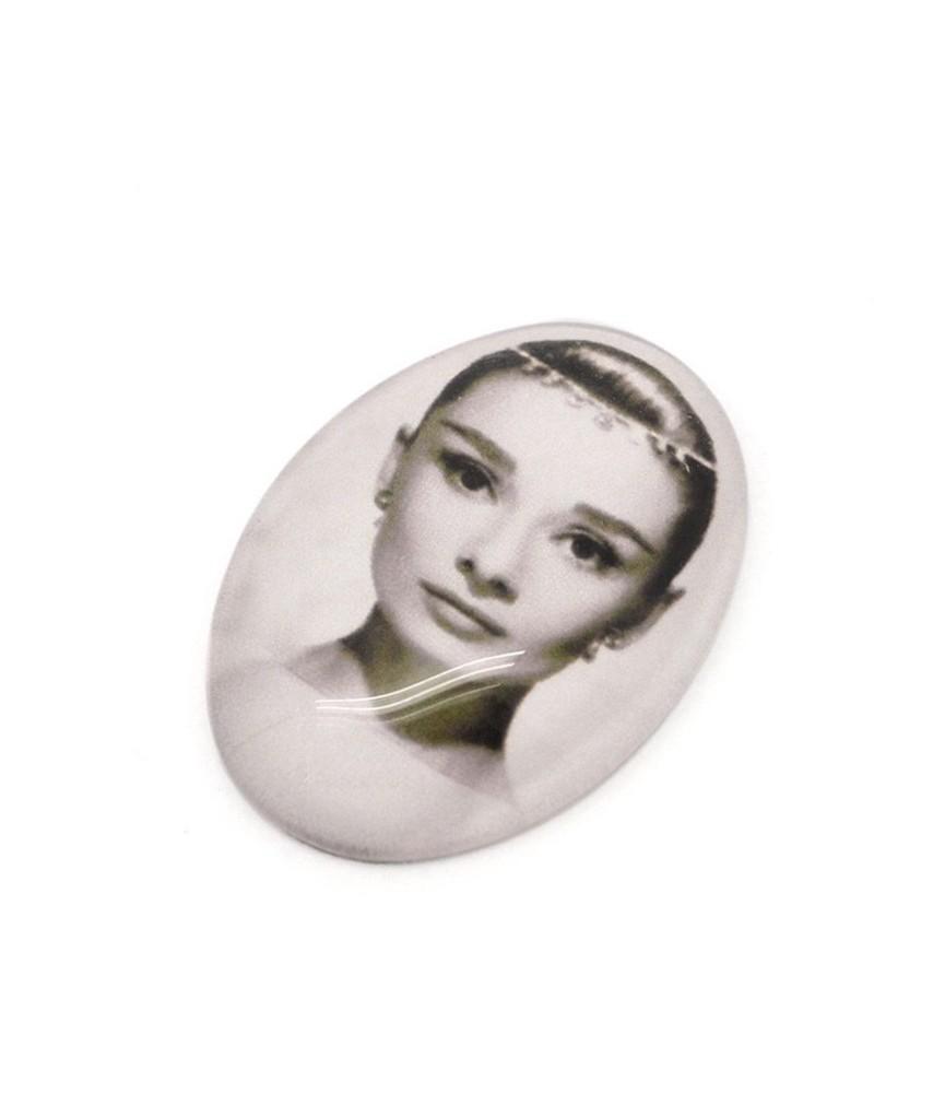 Cabuchon cristal Audrey Hepburn 18x25mm