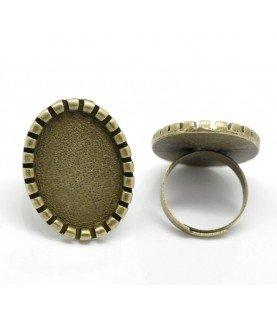 Comprar Anillo ajustable con base 25x18 mm bronce de Conideade