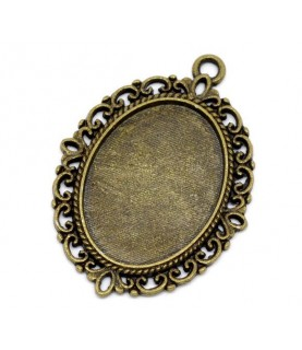 Comprar Base camafeo ovalado bronce de Conideade