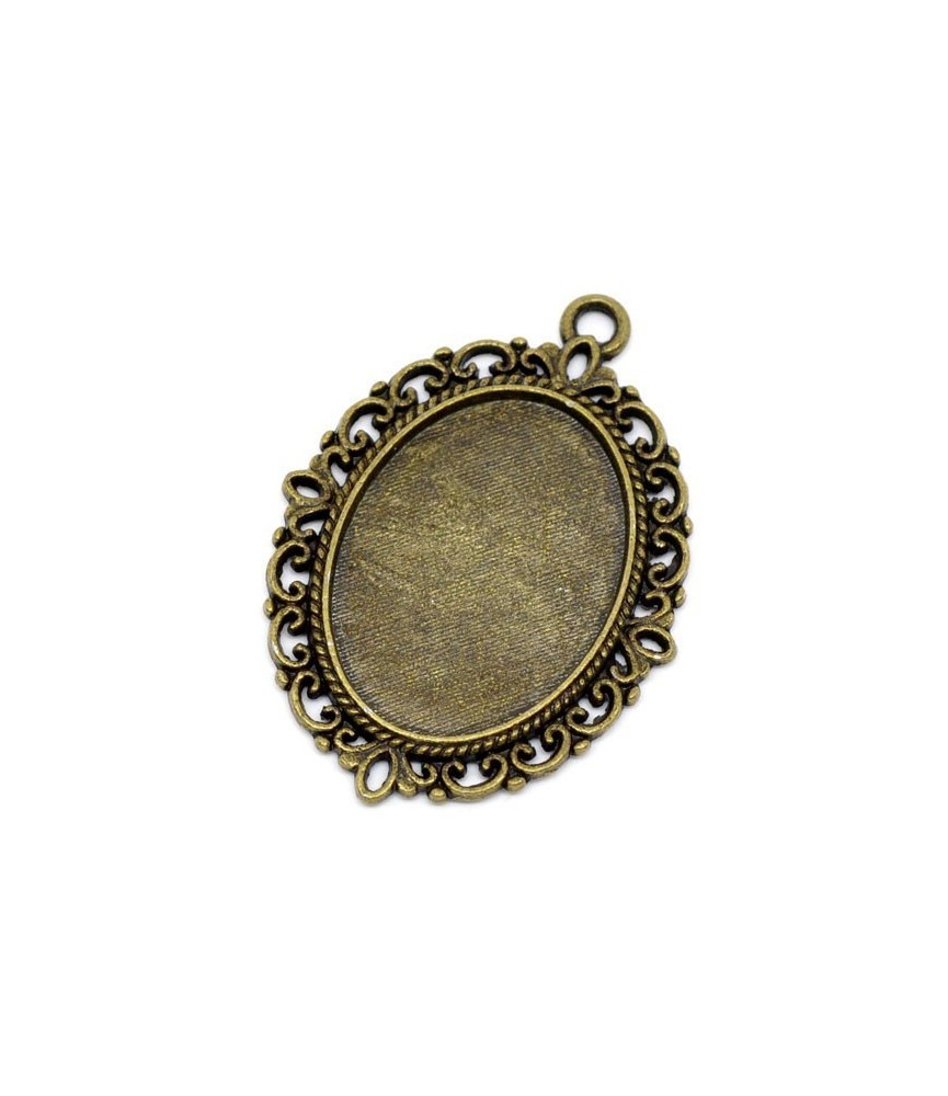Base camafeo ovalado bronce