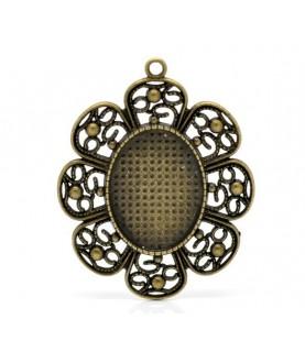 Base camafeo flor bronce