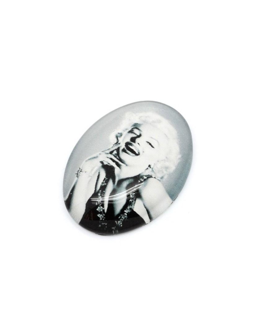 Cabuchon de cristal Marilyn Monroe 18x13mm
