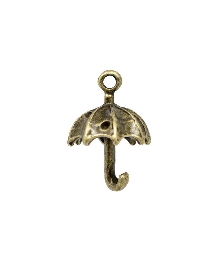 Charm paraguas bronce