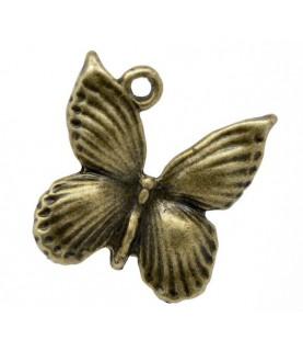 Charm mariposa bronce